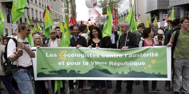 Des militants et sympathisants EELV à la manifestation