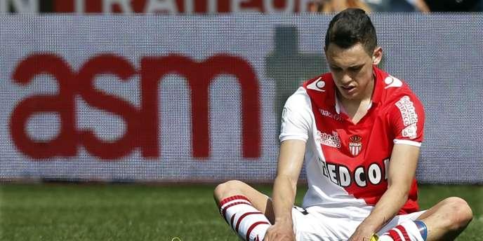 La commission de discipline de la LFP a condamné le club monégasque en raison d'incidents survenus lors de la 37e journée de Ligue 2. Ici, le Monégasque Lucas Ocampos, le 4 mai à Monaco.
