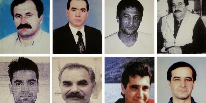 Les huit hommes d'origine turque tués par la NSU.