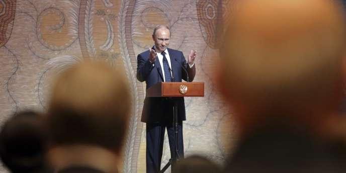 Discours de Vladimir Poutine pour l'inauguration du théâtre Mariinsky à Saint-Pétersbourg, le 2 mai.