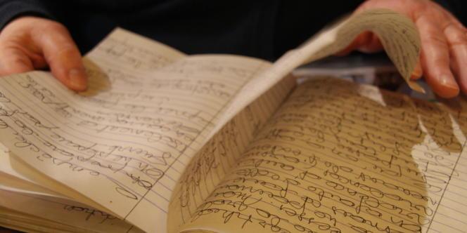 Le cahier de Chantal, où elle a a annoté les raisons qui ont poussé son fils Sammy à partir combattre en Syrie.