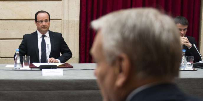 François Hollande et Jean-Marc Ayrault, le 6 mai 2013 à l'Elysée.
