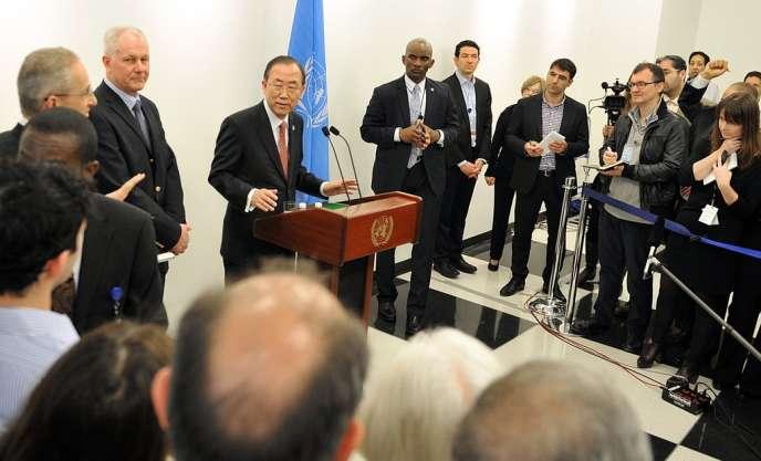 Le secrétaire général de l'ONU, Ban Ki-Moon, le 29 avril à New York.