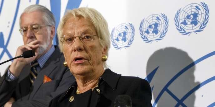 Carla del Ponte, le 25 octobre 2012 à Genève.