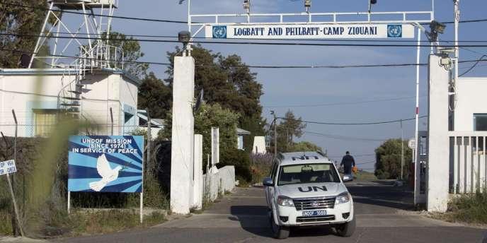 Des membres de la Force des Nations unies chargée de l'observation du désengagement sur le Golan, le 7 mai.