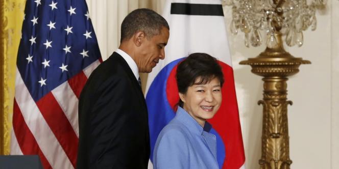 Barack Obama et Park Geun-hye à la Maison Blanche, le 7 mai.