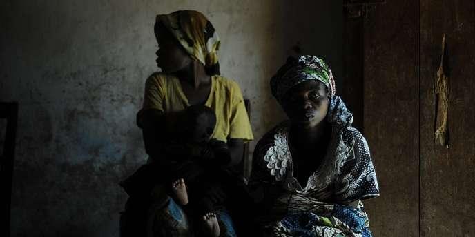 Des femmes de Nakiele, au Sud-Kivu, qui affirment avoir été violées par des soldats congolais.