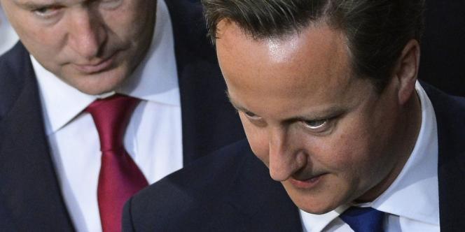 Le premier ministre britannique David Cameron à la Chambre des lords, le 8 mai.
