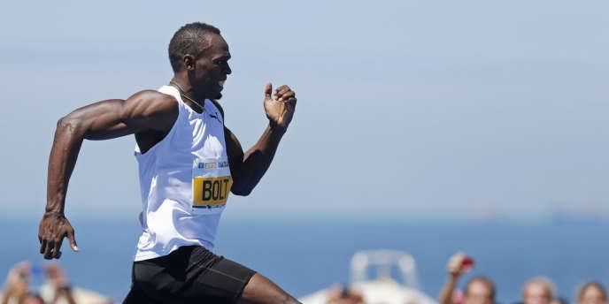 Usain Bolt, à Copacobana, Brésil, le 31 mars.