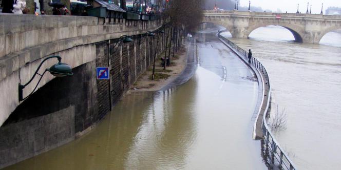 La Seine en crue, en 2010.