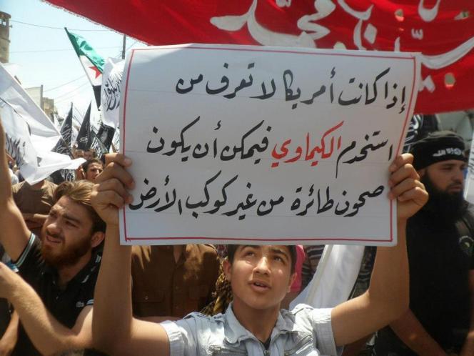 Une manifestation anti-Assad, le 3 mai à Sarmada.