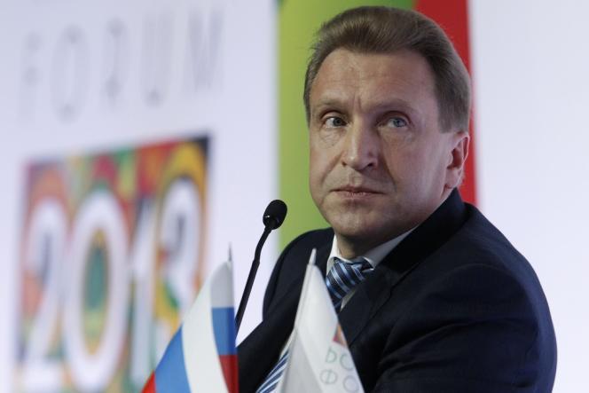 Le vice-premier ministre russe Igor Chouvalov, hôte d'honneur du forum