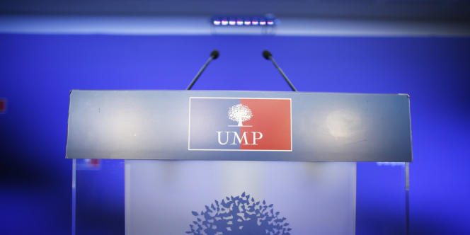 Au siège de l'UMP, en novembre 2012.