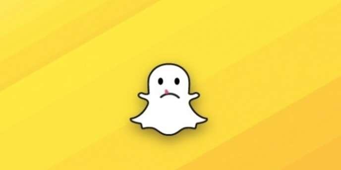 Logo détourné de Snapchat.