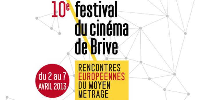 Visuel du 10e Festival du cinéma de Brive, Rencontres européennes du moyen-métrage, du 2 au 7 avril 2013.