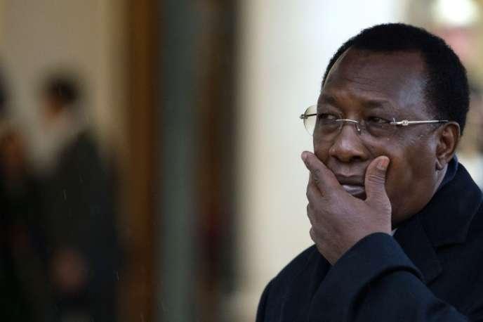 Le président tchadien Idriss Déby, au palais de l'Elysée, en décembre 2012.