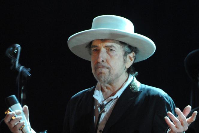Bob Dylan au Festival des Vieilles Charrues en juillet 2012.