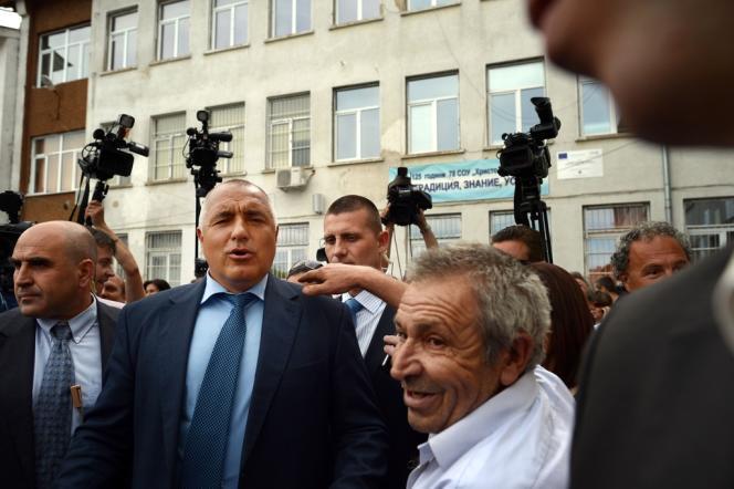Boïko Borissov, le 12 mai à Sofia, après avoir voté.