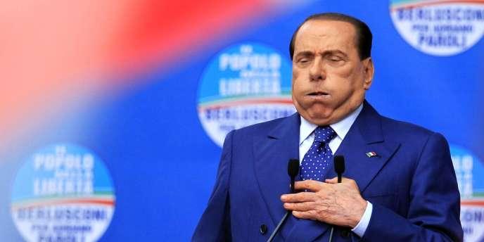 Silvio Berlusconi, à Brescia le 11 mai.