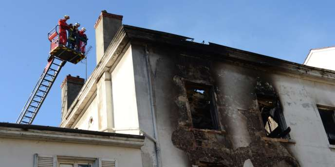 L'incendie s'est déclenché dans un immeuble squatté par environ 200 Roms, le 13 mai à Lyon.