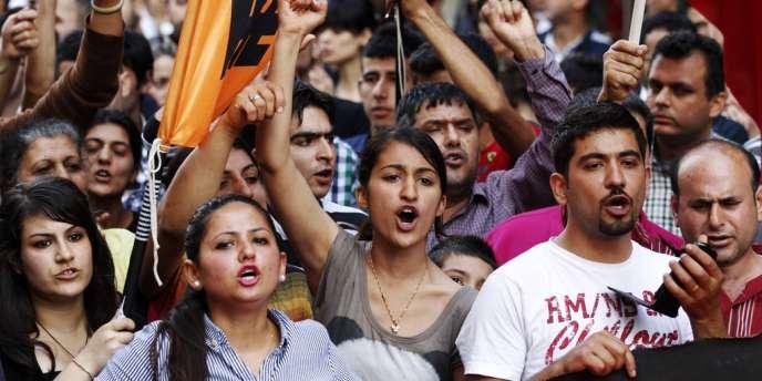 Manifestation contre le gouvernement turque de Tayyip Erdogan, le 1 mai.