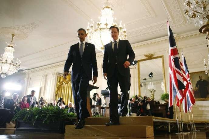 Barack Obama et David Cameron à la Maison Blanche, à Washington, le 13 mai.