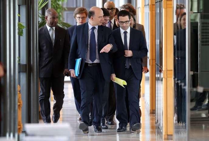 Bercy accueille pas moins de sept ministres, dont Pierre Moscovici (économie) et Benoît Hamon (ministre délégué, économie sociale).