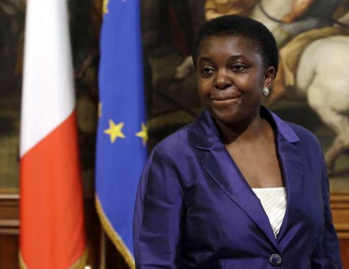 Cécile Kyenge, le 28 avril, au palais Chigi, à Rome.