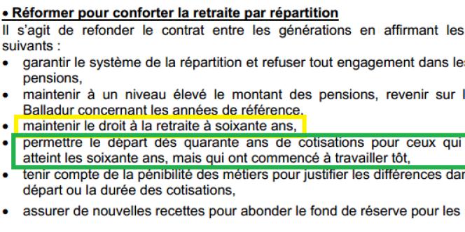 Extrait du texte de la motion de François Hollande au congrès du parti socialiste de Dijon en 2003