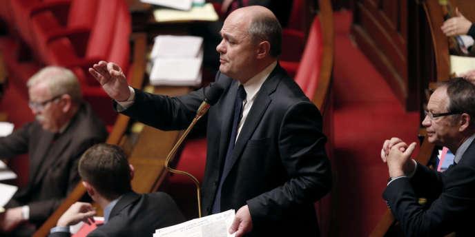 Le président du groupe socialiste, Bruno Leroux, à l'Assemblée nationale, en février 2013.