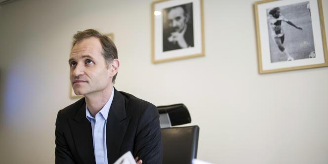 Fabien Namias, nouveau directeur général d'Europe 1, à Paris, le 26 mars.