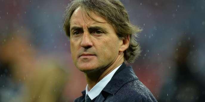 L'ancien entraîneur du club britannique Manchester City, Roberto Mancini.