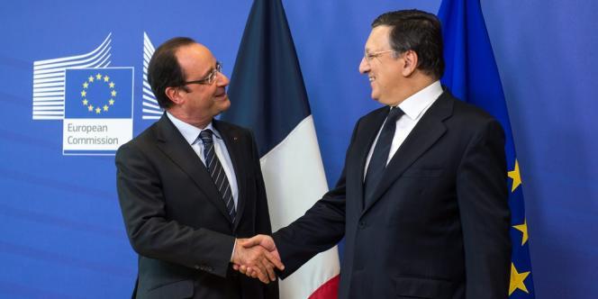 François Hollande et Jose Manuel Barroso, le président de la Commission européenne, en mai 2013 à Bruxelles.
