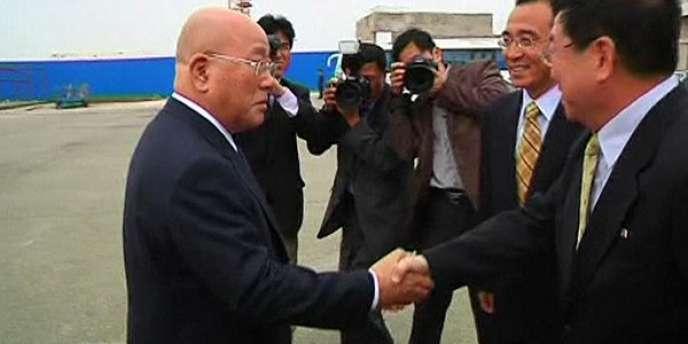 Isao Iijima, est arrivé à Pyongyang mardi 14 mai.