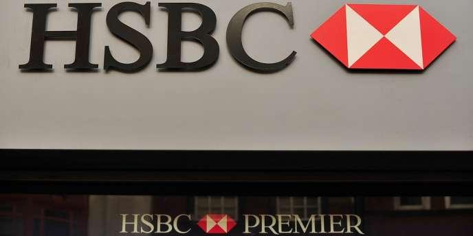 La façade d'une banque HSBC, à Londres, en décembre 2011.