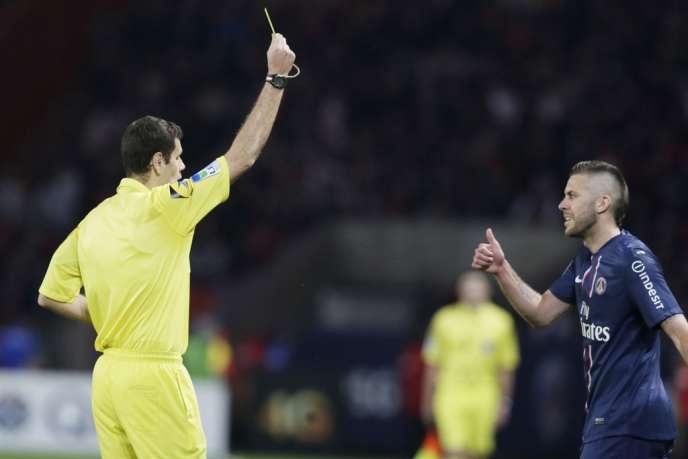 Jérémy Ménez (ici contre Valenciennes, le 5 mai) avait copieusement insulté l'arbitre de la rencontre contre Nice, le 21 avril lors de la 33e journée de Ligue 1.