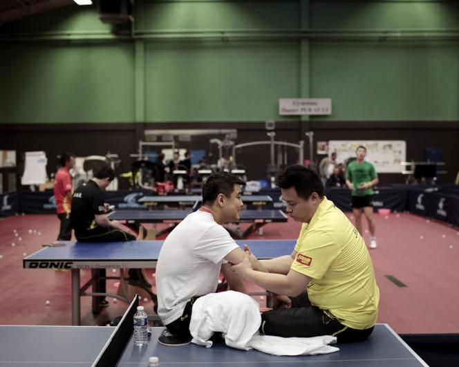 A l'Insep, pendant l'entraînement de l'équipe chinoise.
