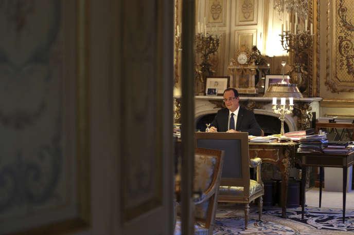 François Hollande à l'Elysée en décembre.