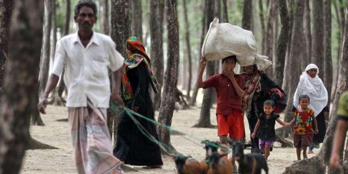 Les trois quarts des 800 000 déplacés au Bangladesh sont de la région de Chittagong, la plus exposée.