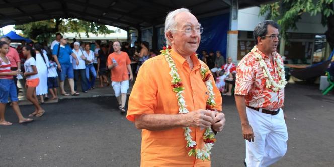 Le vainqueur du récent scrutin territorial en Polynésie française, l'autonomiste Gaston Flosse.