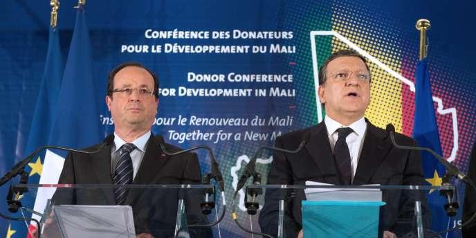 François Hollande et Jose Manuel Barroso, le 15 mai à Bruxelles.