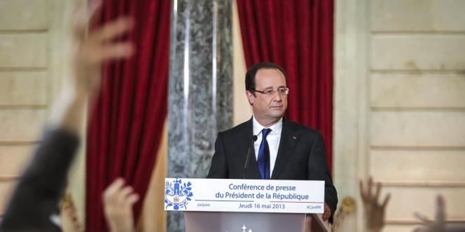 François Hollande a maintenu son objectif d'inverser la courbe du chômage en 2013.