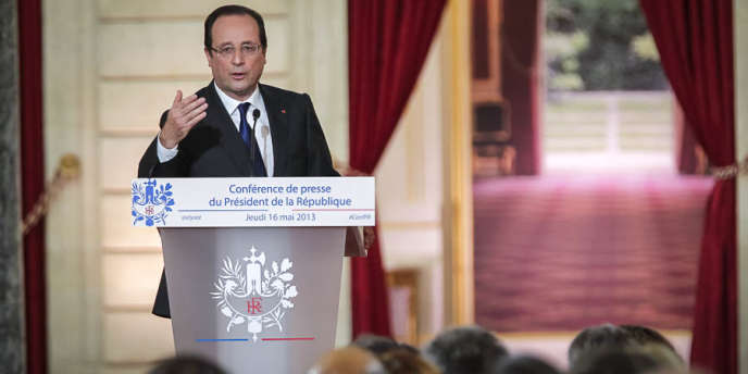Le président français François Hollande lors de sa conférence de presse du 16 mai.