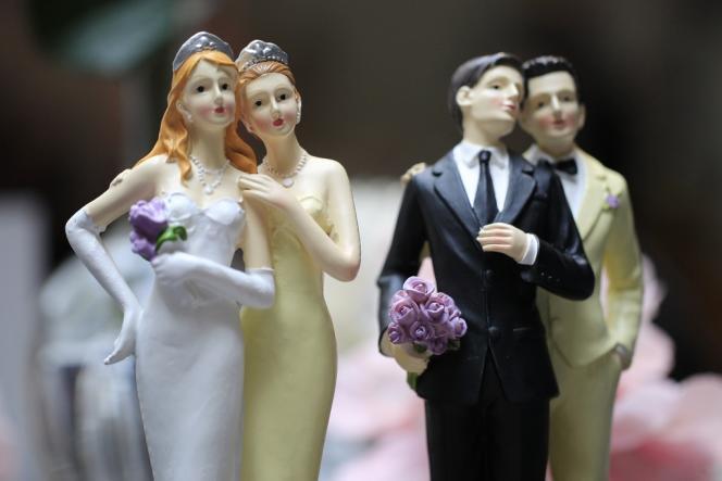 Au Salon du mariage homosexuel, à Paris le 27 avril dernier.