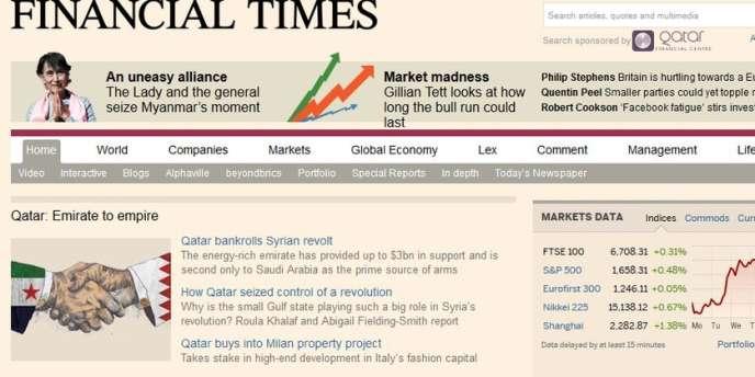 """Le site Internet du """"Financial Times"""" piraté par l'Armée électronique syrienne"""