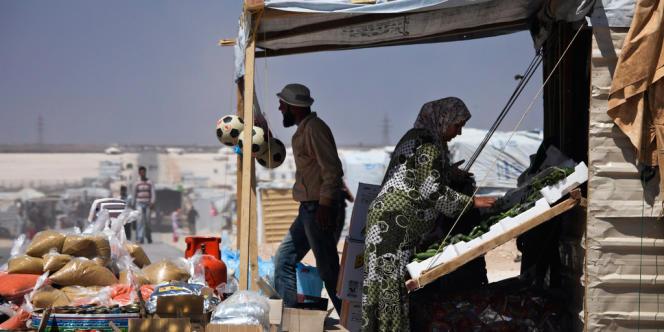 Dans le camp de Zaatari, le 29 avril 2013.