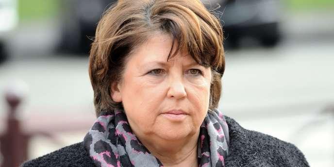 Martine Aubry, maire PS de Lille, le 18 mars.