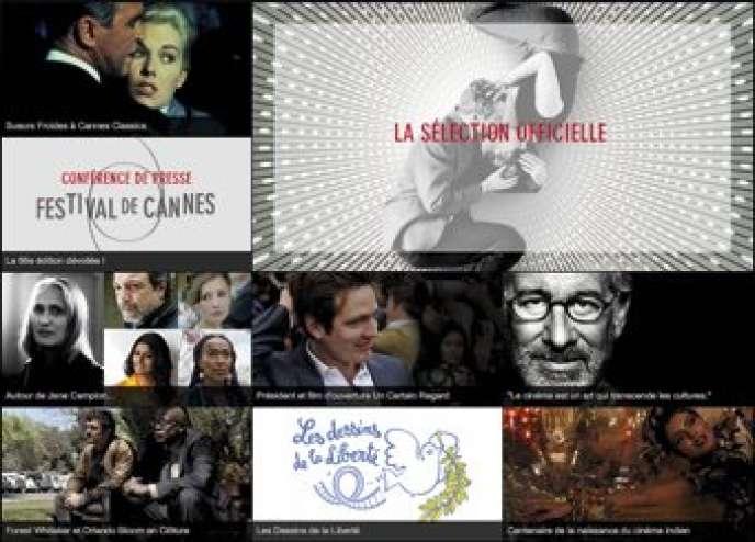 Page d'accueil du site officiel du Festival de Cannes.