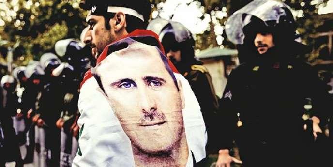 Un Syrien durant une manifestation anti-israélienne à Téhéran le 6 mai.