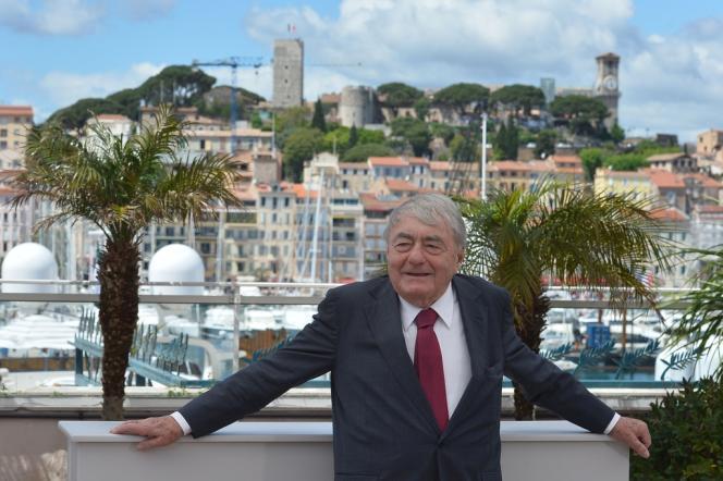 Claude Lanzmann lors d'une séance photo pour son film